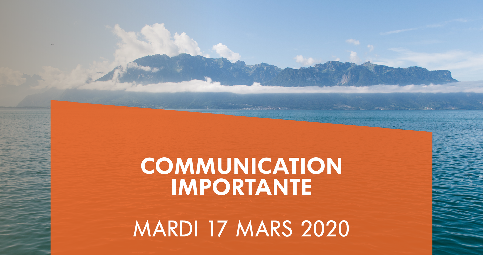 COMMUNICATION IMPORTANTE : COVID-19